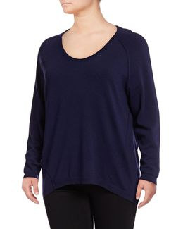 Plus Extrafine Merino Wool Pullover