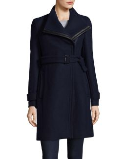 Essentials Coat With Leather Belt