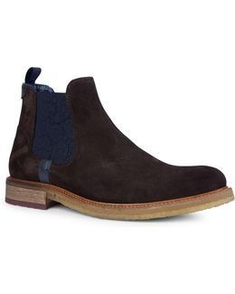 Bronzo Suede Chelsea Boots