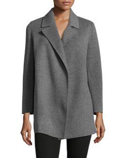 Clairene Open-front Wool-blend Coat