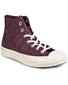 Ladies Leather Mid Sneakers