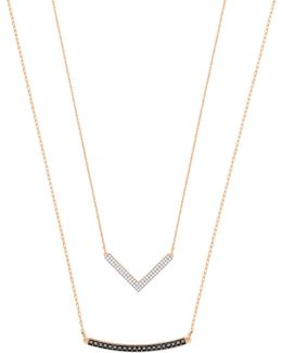 Two-piece Crystal Hero Versatile Necklace Set