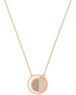 Crystal Hillock Round Pendant Necklace