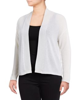 Plus Featherweight Cashmere Cardigan