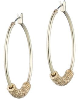 Hoop Earrings With Textured Rings