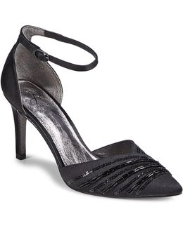 Ankle Strap Point Toe D Orsay Heels