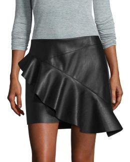 Asymmetrical Ruffle Mini Skirt