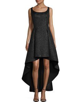Metallic Jacquard Hi-lo Dress