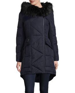 Faux-fur Trim Coat