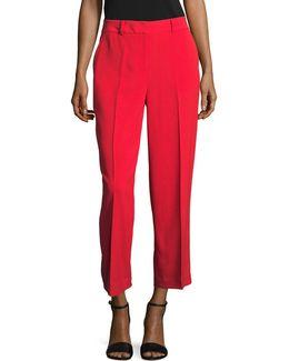 Texture Base Straight Crop Pants
