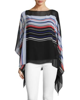 Linear Graphic Panel Poncho