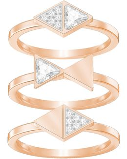 Heroism Stacked Rings Three-piece Set