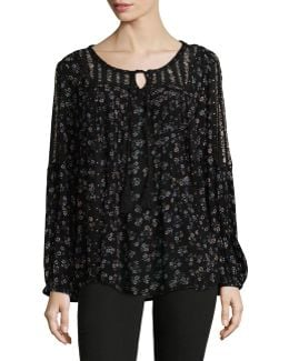 Sheer Floral Tunic