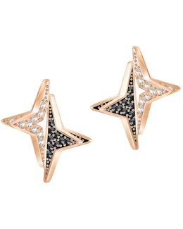 Halve Star Crystal Stud Earrings