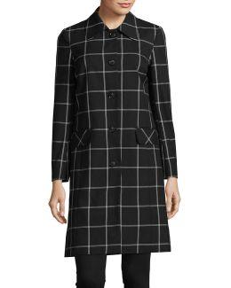 Windowpane Suiting Coat