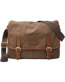Graham Canvas Laptop Messenger Bag