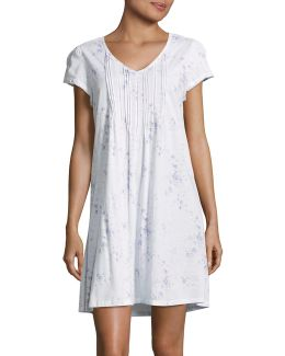 Short Sleeve Cotton Gown