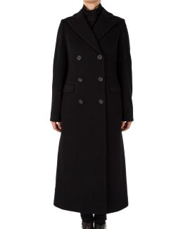 Long Notch Collar Maxi Coat