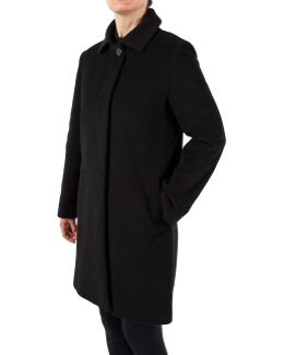 Tailored Collar Mid-length Coat