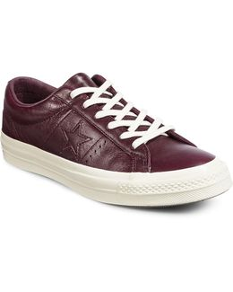 Leather Low-cut Sneakers