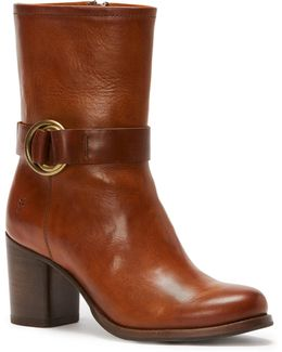 Addie Harness Leather Mid-calf Boots