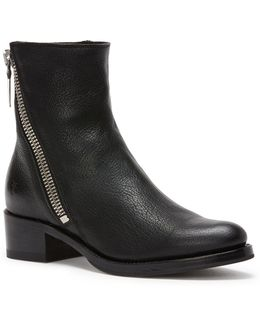 Demi Zip Leather Booties