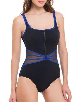 One-piece Zip Front Swimsuit