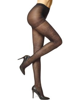 Sheer Medallion Tights