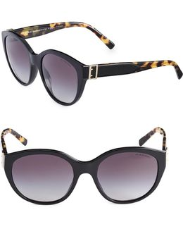 55mm Cat-eye Wayfarer Sunglasses