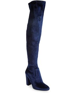 Emotion Velvet Over-the-knee Boots