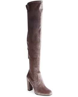 Emotion Velvet Over-the-knee Boots