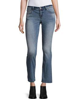 Petite Regular-fit Boot Leg Jeans