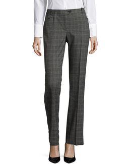 Plaid Pleat Trousers