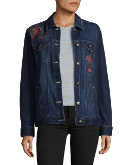 Aurora Floral Denim Jacket