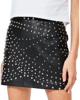 Stud Mini Skirt