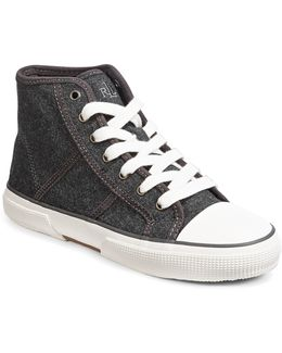 January Leather Hi-top Sneakers