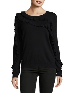 Asymmetrical Ruffle Sweater
