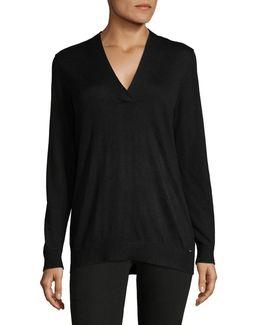 Cross V-neck Sweater