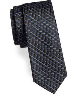 Cube Pattern Silk Tie