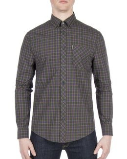 Plaid Cotton Casual Button-down Shirt