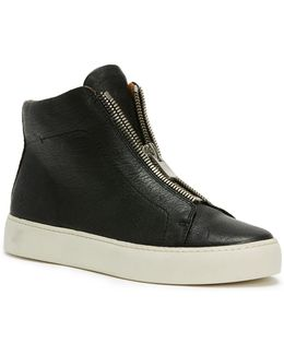 Lena Leather High-top Sneakers