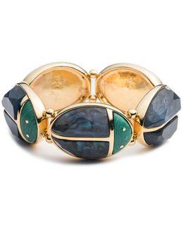 Sunset Ladybug Stretch Bangle Bracelet