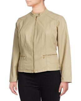 Plus Front Zip Jacket