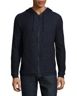 Zip-up Cotton Hooded Jacket