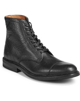 Seth Cap Toe Leather Boots