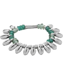 Dew Leather And Silver Bracelet