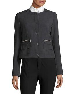 Twill Zip-pocket Jacket