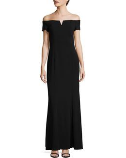 Classic Off-the-shoulder Gown