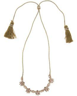 Tassel Chain Swarovski Necklace