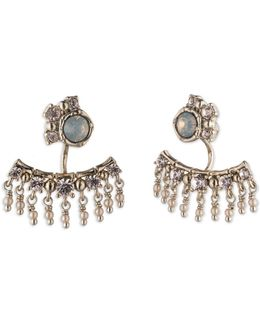 Beaded Post Drop Earrings